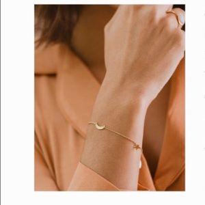 Marina De Buchi 'Moon & Stars Gold-Plated Bracelet